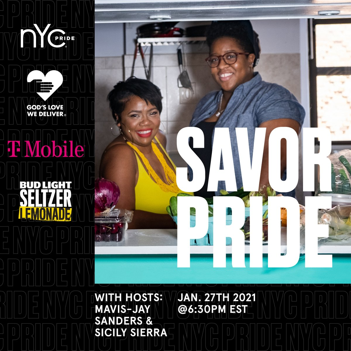 @ChefMavisJay and @SicilySierra join #SavorPride on January 27! Tickets are now available: