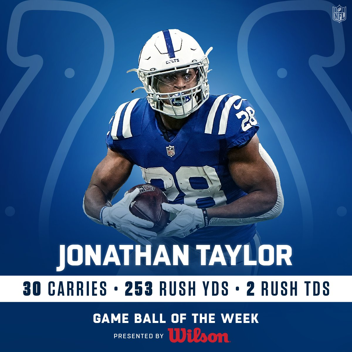 The game ball of the week goes to @Colts RB @JayT23! (by @WilsonFootball)