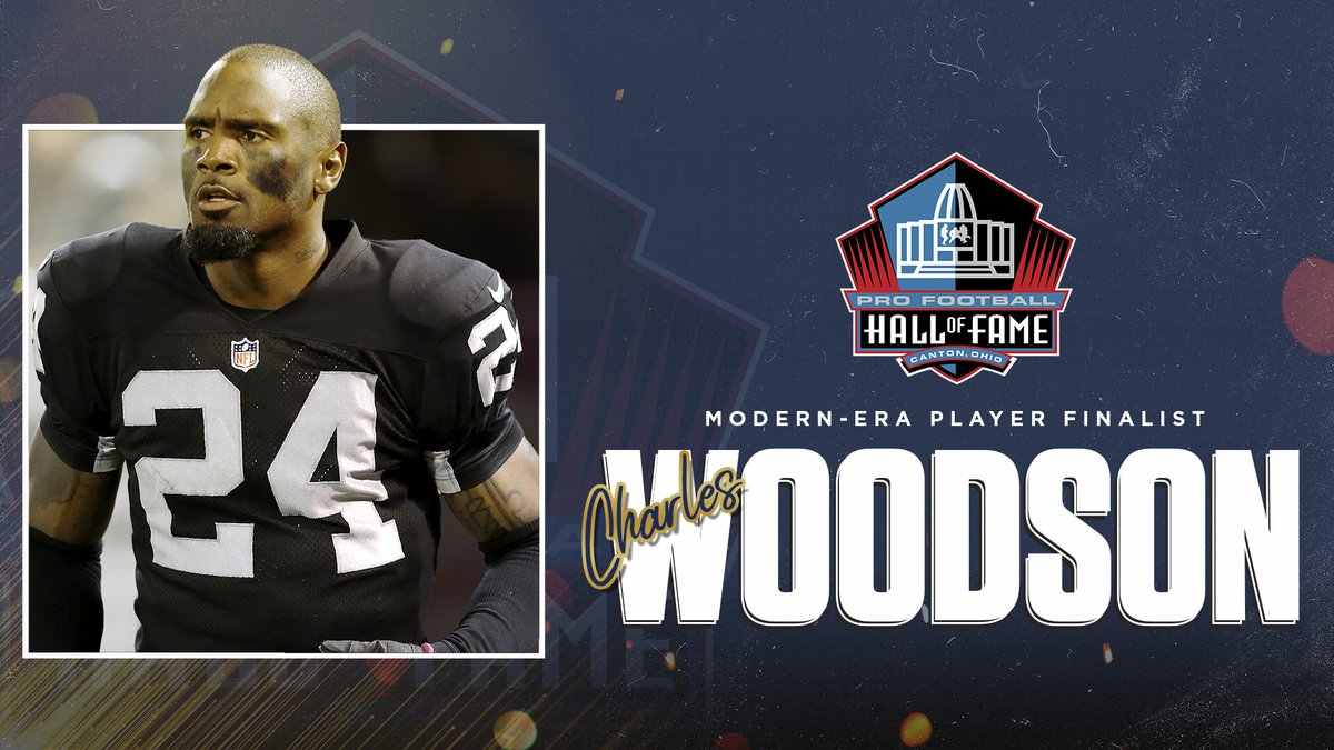 Congratulations to DB @CharlesWoodson on being selected as a Finalist for the #PFHOF21 Class!   @Raiders | @packers