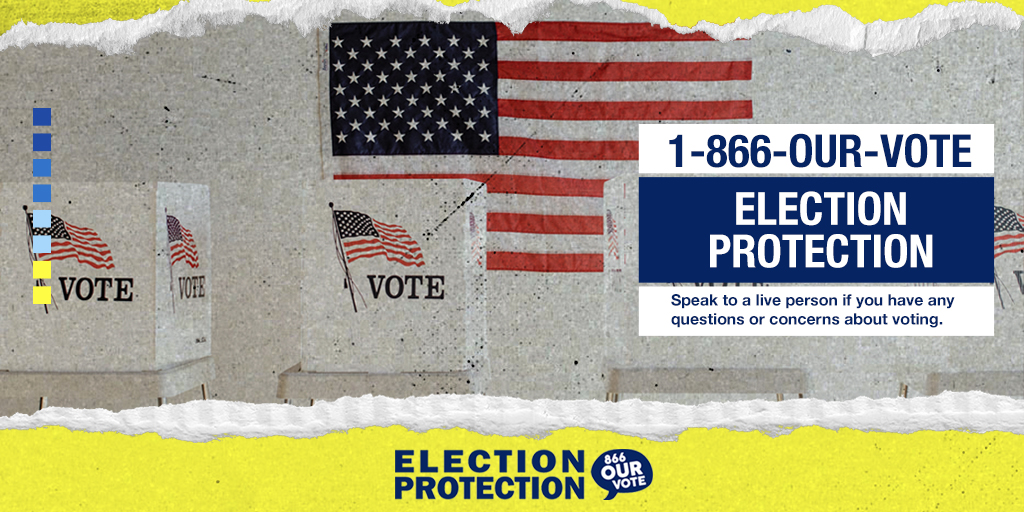ATTENTION #GEORGIA #VOTERS: If you have questions about today's #RunoffElection, call or text 866-OUR-VOTE (866-687-8683) to speak to a #nonpartisan #ElectionProtection volunteer. #DefendingDemocracy