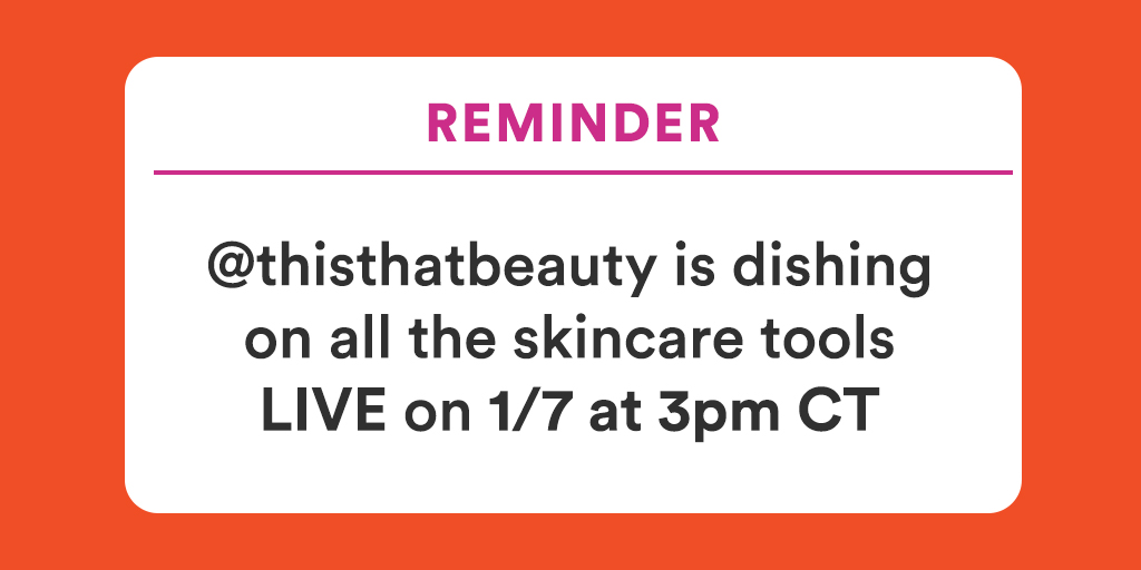 Some skincare tools can leave you 🧐❓ From dermaplaning to microcurrent technology, Felicia Walker (IG: @thisthatbeauty) is breaking it all down, LIVE! Head to  to tune in on 1/7 at 3 pm CT and drop your questions for her below 👇