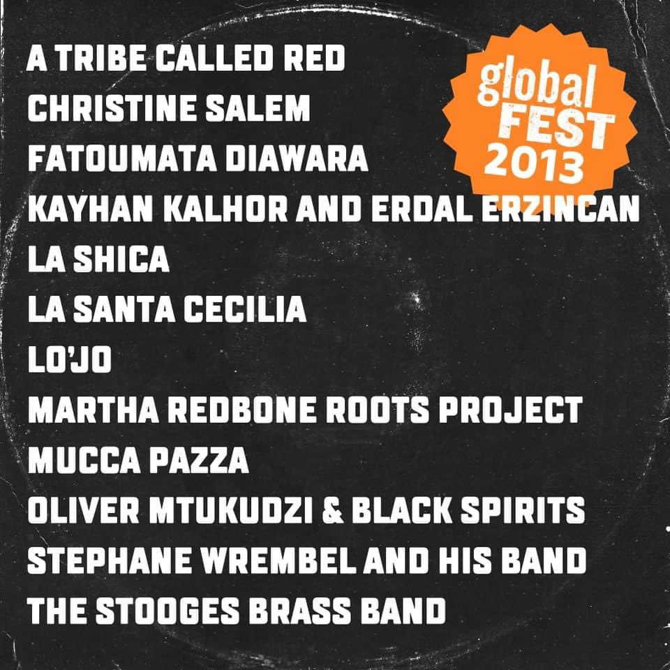 . @NPRMusic, #TinyDesk meets @globalFEST_NYC will be held virtually on Jan 11—14, featuring 12 new artists, 4 alumni and hosted by @angeliquekidjo . For now enjoy our gF 2013 playlist  with @martharedbone, who returns this year   🎵