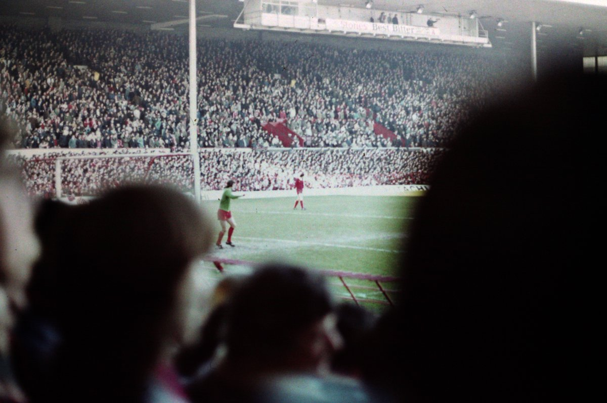 The late great Ray Clemence viewed from the old Kop 1979/80 I think. #Anfield #Liverpool