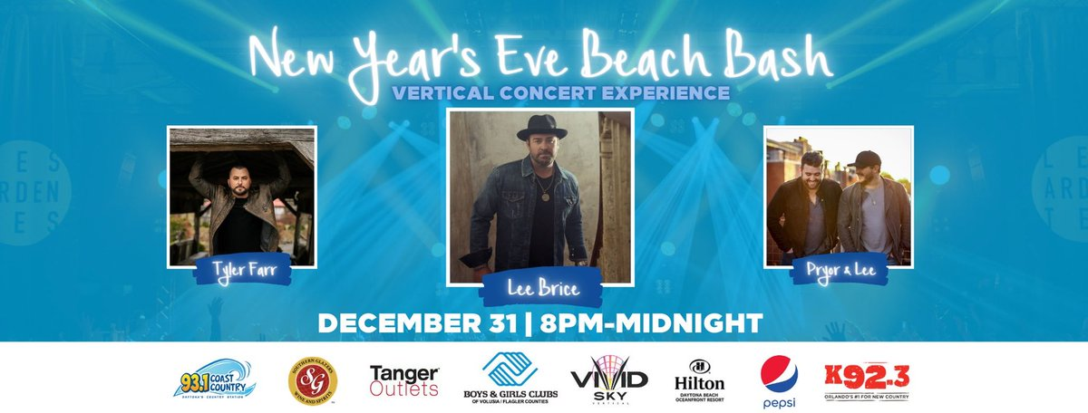 Ring in the New Year with me, @leebrice, @lakeviewcountry, and @PryorAndLee this Thursday at @DaytonaHilton! Get your tickets here for a vertical concert experience: https://t.co/ibmFvctSmZ https://t.co/XYOW0IoQU8