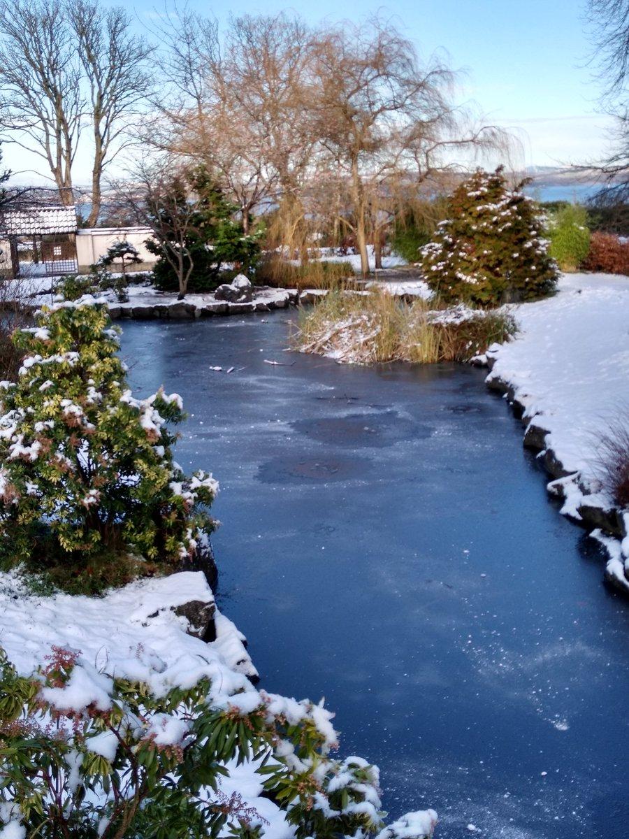 Lauriston Castle and grounds this morning. #edinburghsnow #Lauristoncastle #Mimis #Japanesegarden