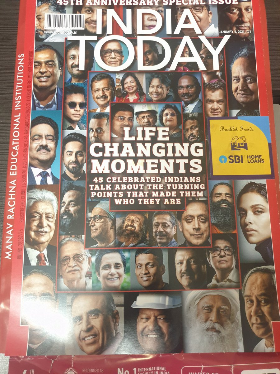 Happiness is seeing my biggest inspiration @thekiranbedi mam featured in the top 45 personalities of 2020 by @IndiaToday magazine.inspiring to read how she turned every challenge into an opportunity and believed in reforming rather than punishing @ashapondy @LGov_Puducherry