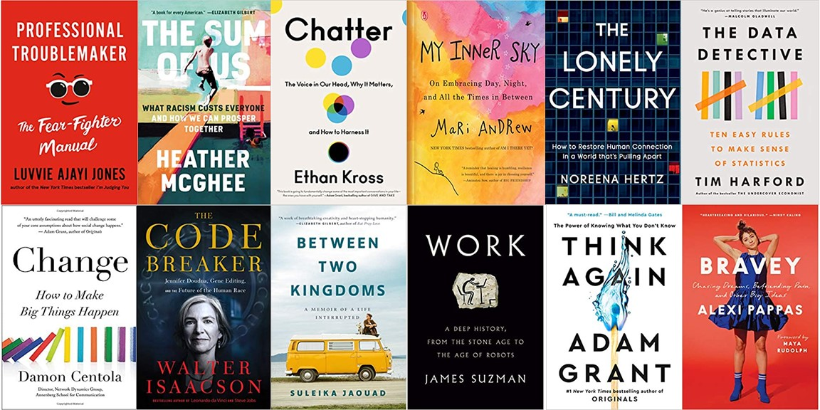 If you shift half your doomscrolling time to books, how much more learning and joy will 2021 bring?  The winter's new releases cover fear & courage, isolation & inclusion, tradition & transformation, adversity & resilience, and thinking & rethinking.