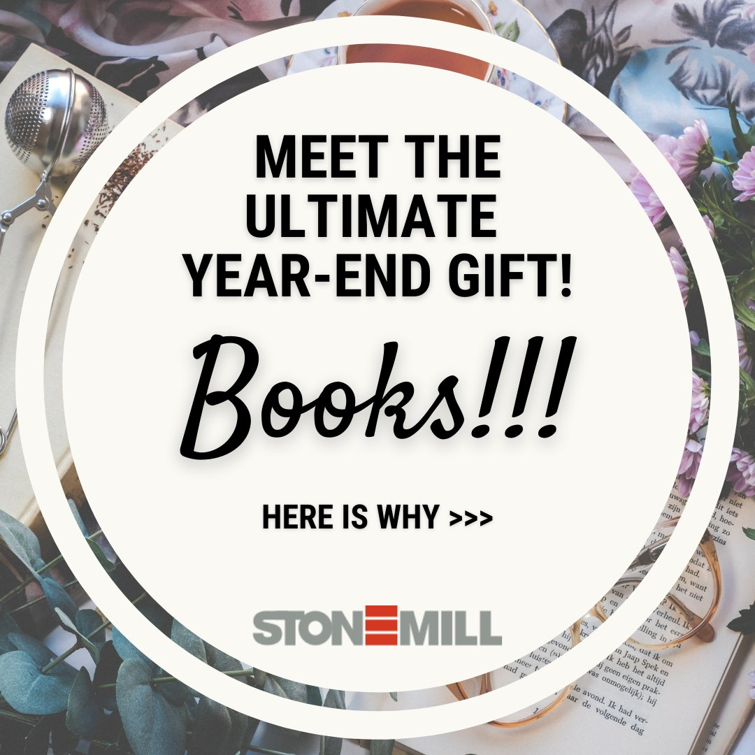 Wrap 2020 with the ultimate year-end gift, #Books!  See this Instagram post by @stonemillindia  to know why!  #reading #readers #giftideas #NewYear2021 #writing