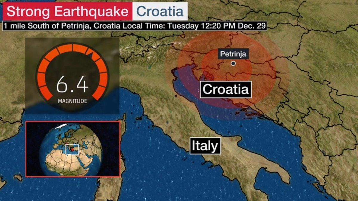 Sen Cal Kapimi Can Yaman V Twitter Pray For Petrinja Croatia Was Hit By 2 Earthquakes In 2 Days With 5 2 And 6 4 Magnitudes The Capital City Zagreb And