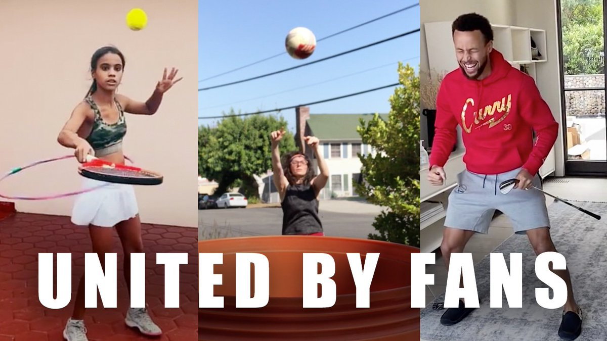 . @RakutenSports released a special #thankyou message to fans, athletes and members around the world for helping spread optimism and keeping sports alive during the year's events, featuring top athletes @Podolski10, @StephenCurry30 #unitedbyfans 🏅
