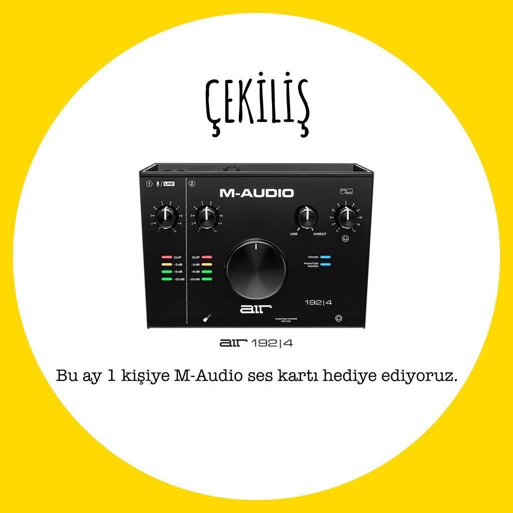 ✨🎁✨ @FRNDzzMusic çekilişle 1 kişiye, kullanımı son derece kolay bir arabirim üzerinden kusursuz 24-bit/192 kHz'lik stüdyo kalitesinde kayıtlar alabileceğiniz @M_Audio_ AIR 192|4 ses kartı hediye ediyor 😲 #Compel #MAudio