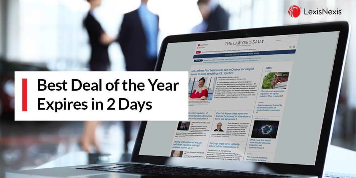 When it's gone, it's gone. #TheLawyersDaily - the lowest price of the year sale ends in 2 days. Get your dedicated Supreme Court coverage at your fingertips. Use code TLD2020 when checking out.  #GivingTuesday2020 #legalnews #legalnewsCA Act now. >>>