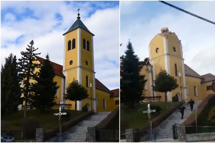 Parallel Universe Getvaccinated Maskup On Twitter The Historical Church In The Town Of Kravarsko South To Zagreb Had Collapsed After Today S 6 4 Magnitude Earthquake Near Petrinja Potres Croatia Earthquake Https T Co Asqvysnvne