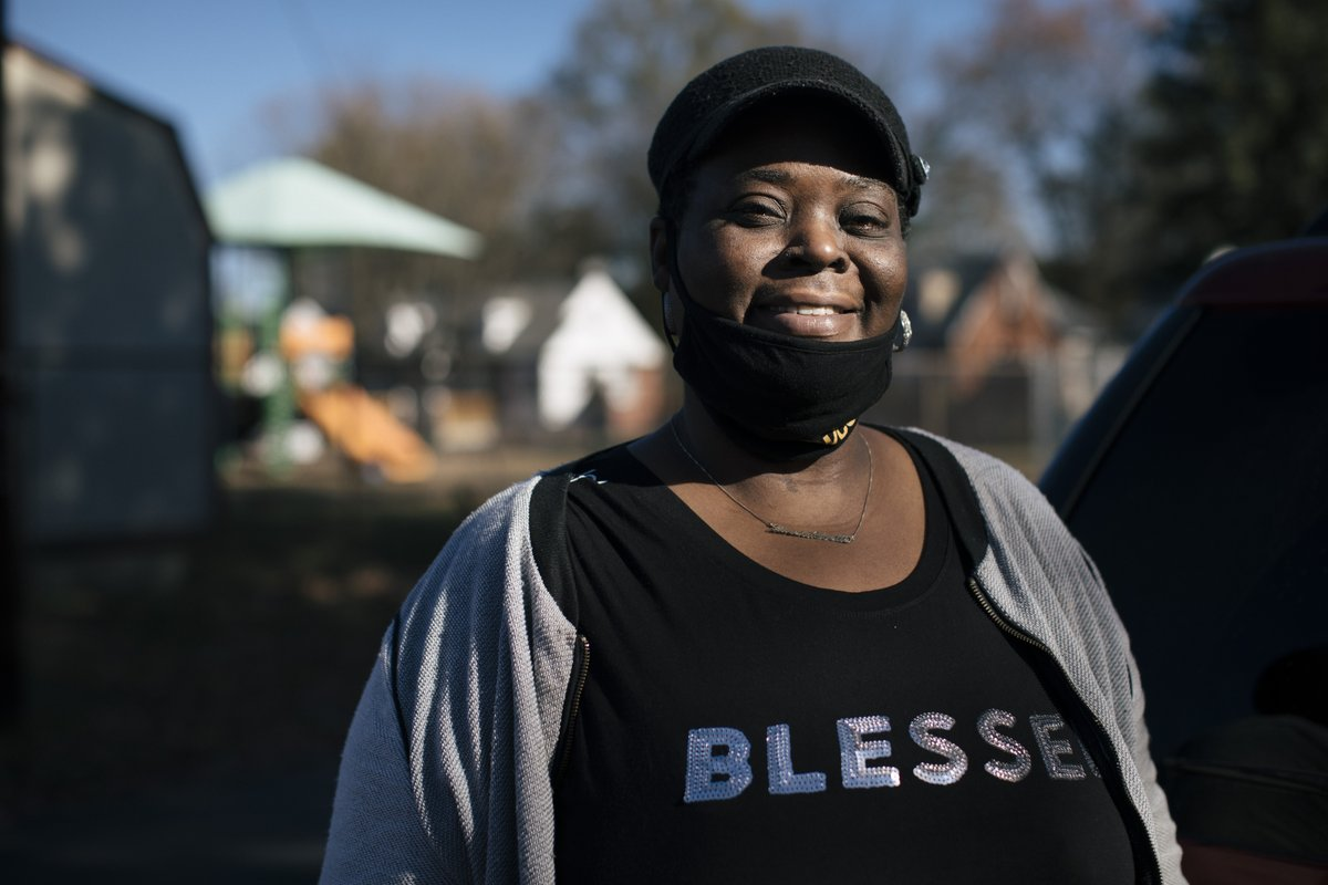 """""""They don't have a job and are trying to feed their family. We're all going through something."""" -Lareka  If you are in need of help for the first time, you are not alone - and food banks are here to help. Find the food bank that serves your community:"""