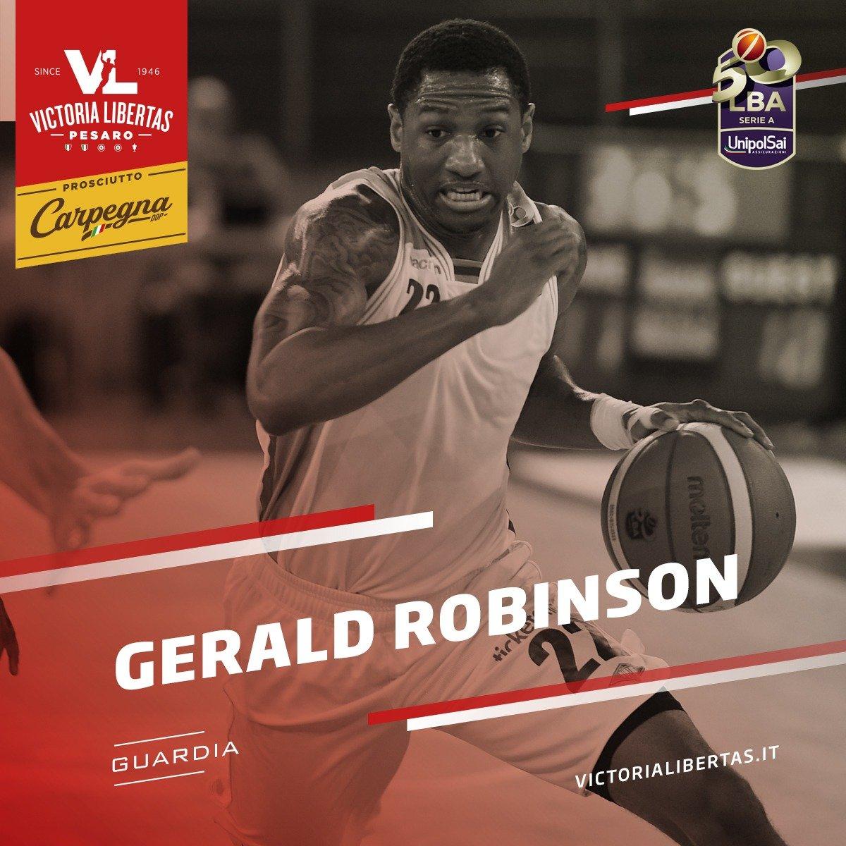 La VL Pesaro annuncia la firma di Gerald Robinson