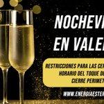 Image for the Tweet beginning: #Nochevieja en #Valencia : restricciones
