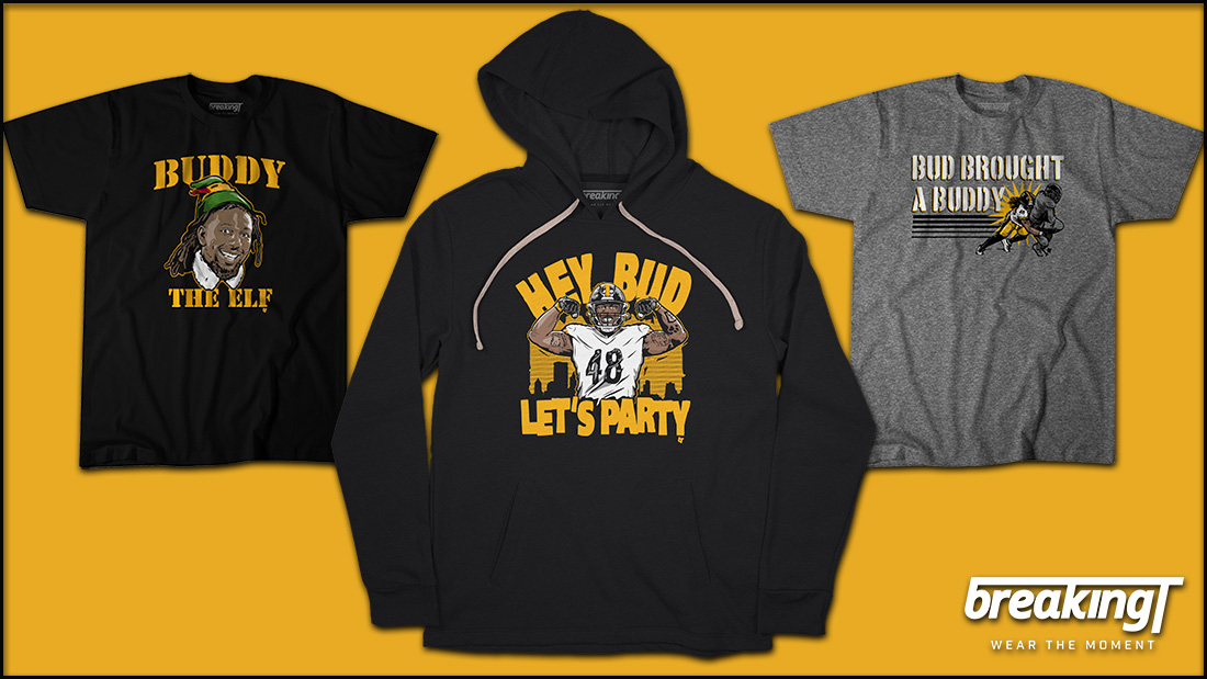 Pittsburgh is headed to the playoffs. 🏈 #HereWeGo   🗣️ HEY BUD, LET'S PARTY! 🎉  @Bud_Dupree Officially Licensed ➡️