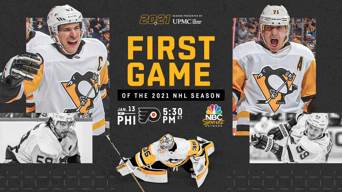 Pittsburgh Penguins On Twitter The First Game Of The 2021 Nhl Season Is Drum Roll Please Penguins At Flyers