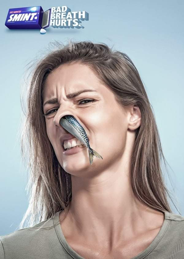 In this print ad smint smartly showcases how their small yet powerful breath freshening mint will vanish away bad breath... #ViralAdsNow #PrintAdvertising #Marketing #DigitalMarketing #OnlineMarketing