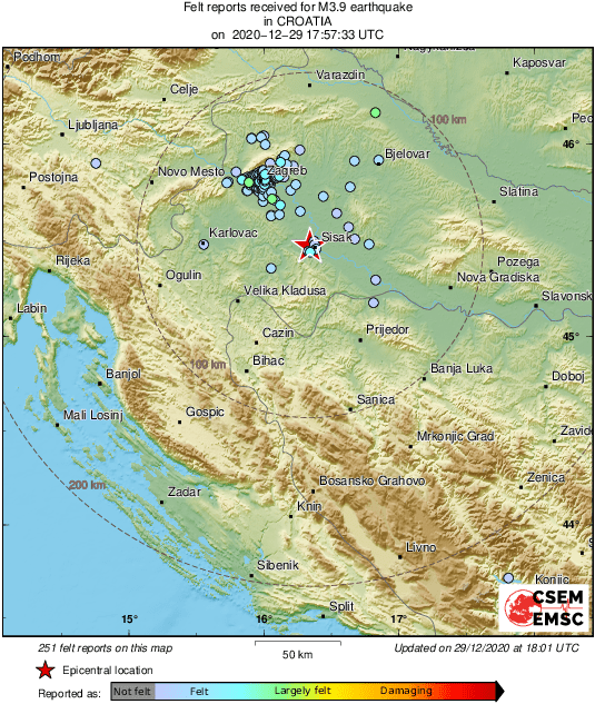 Emsc On Twitter M3 9 Earthquake Potres Strikes 47 Km Se Of Zagreb Centar Croatia 5 Min Ago Effects Reported By Eyewitnesses Https T Co Bw3jrolrgm
