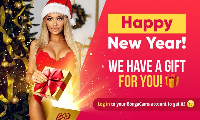 #BongaCams wishes everyone a Happy New Year and gives PRESENTS! 🎁  We wish you all the best and give