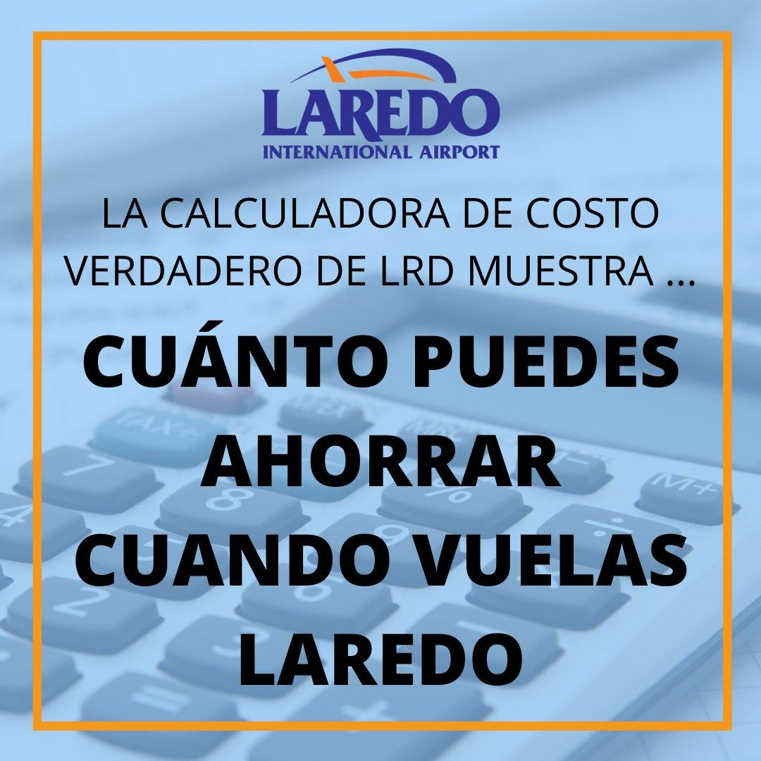 ¡Vea cuánto ahorra cuando vuela localmente! Vuele LRD directamente a la Ciudad de México con servicio en Aeromar usando la calculadora de vuelo True Cost #FlyLocal #FlyLaredo #LRD