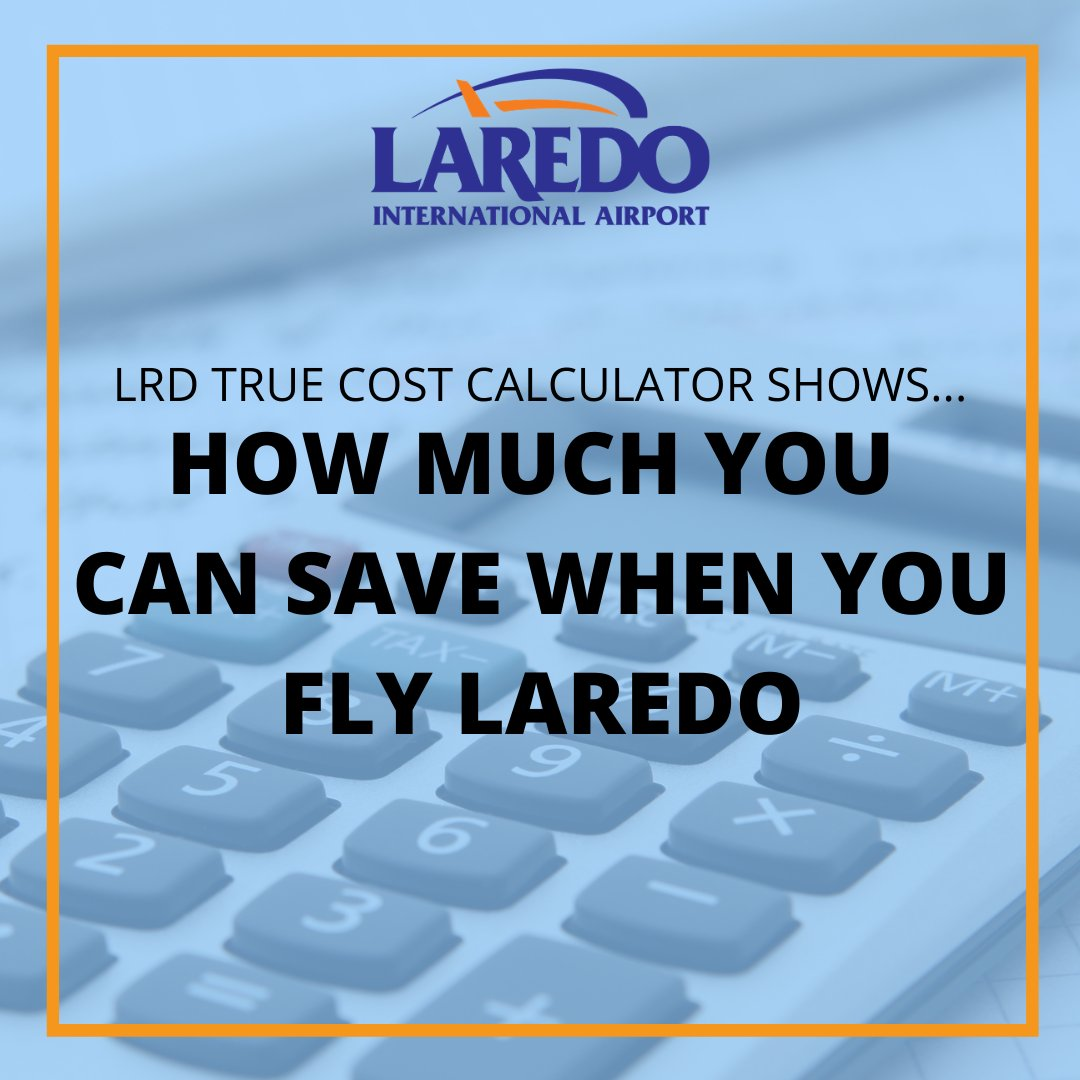 See how much you save when you Fly Local! Fly LRD direct into Mexico City with service on Aeromar Using the True Cost Flight Calculator #FlyLocal #FlyLaredo #LRD