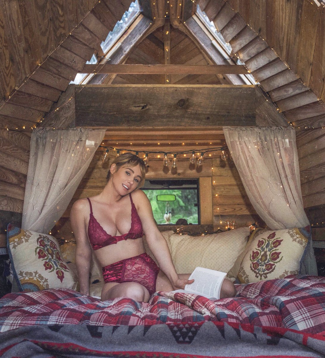 A bed and a book is all I need
