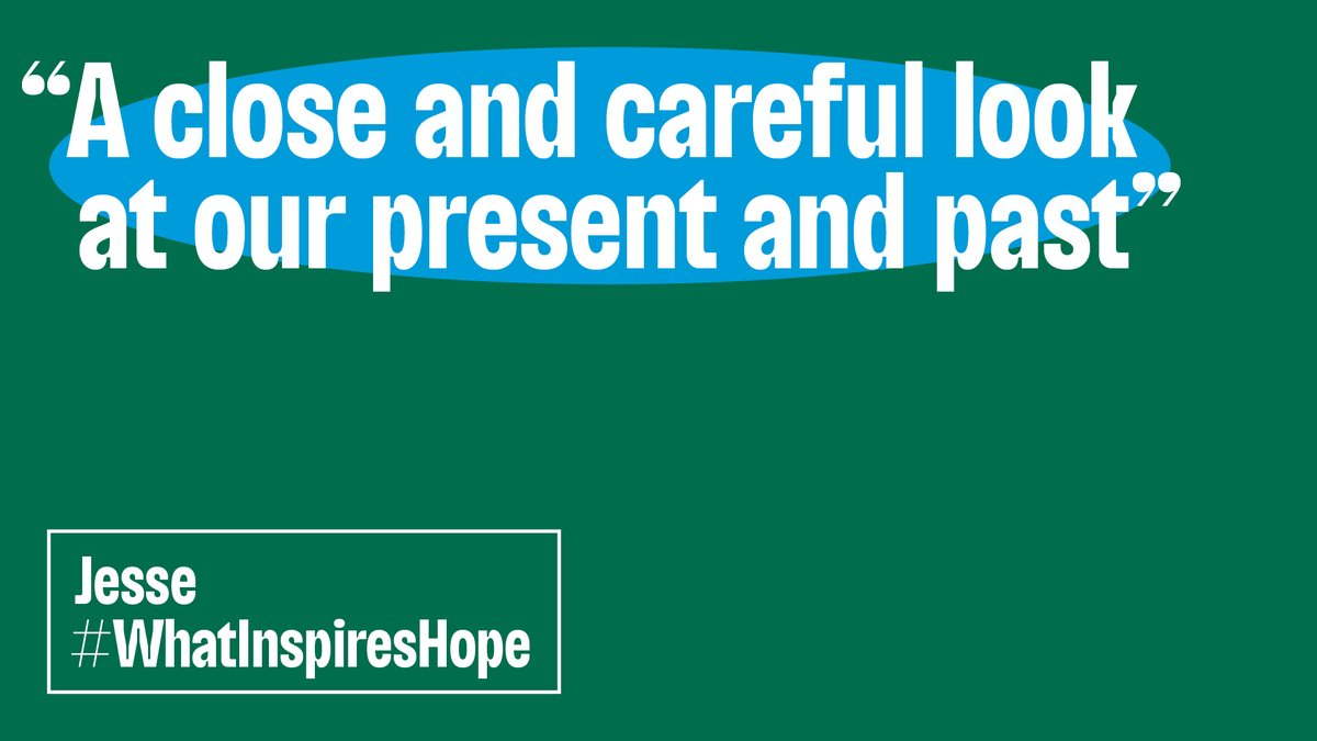 #WhatInspiresHope for you as we head into the new year? We've loved reading your responses. Help us support local, early-career artists with a gift to the Shed Fund: