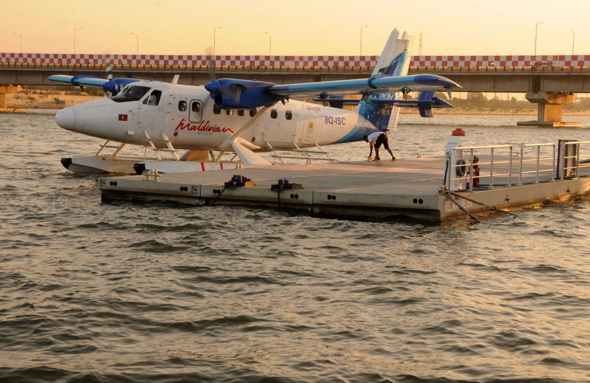 Seaplane returns from Maldives; Dry & Wet dock for maintenance to be created at Riverfront