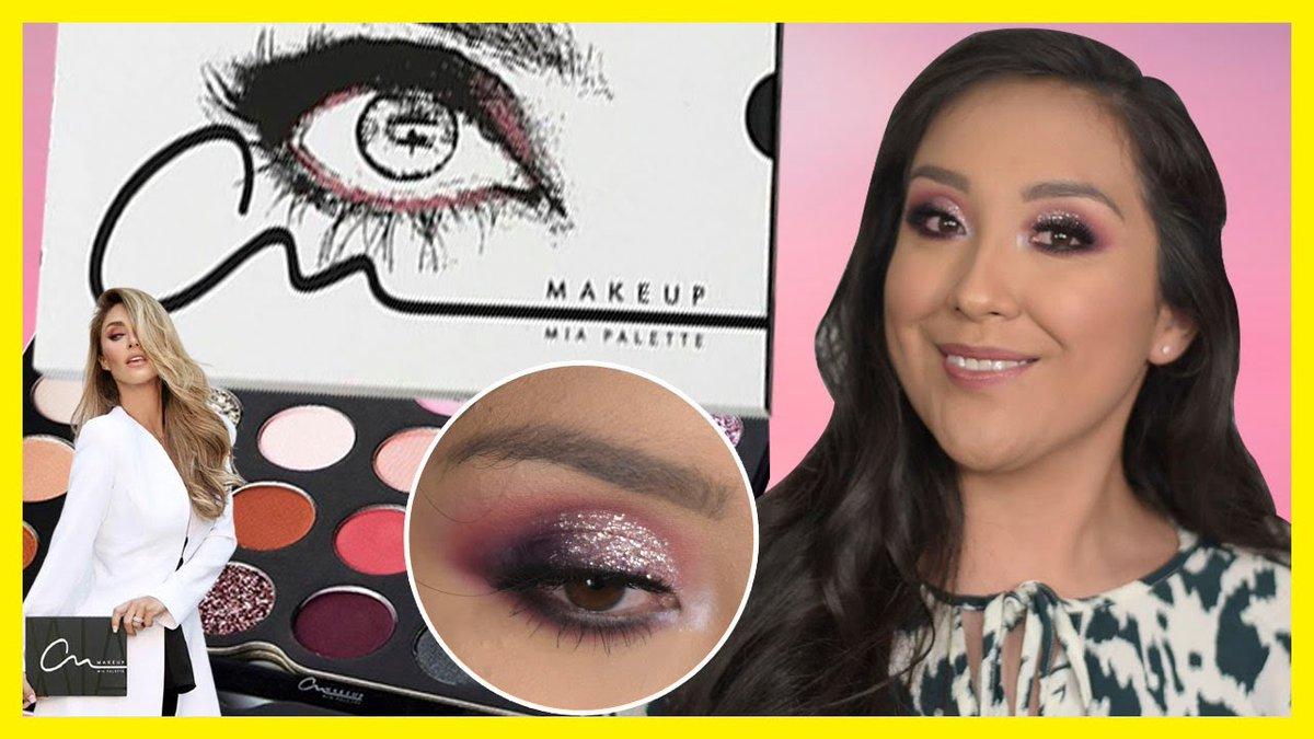 """En mi canal ya está disponible la reseña completa de """"Mia Palette"""" de @AnMakeup1111 marca de maquillaje de @Anahi ⭐💕 ⬇️⬇️ #MiaPalette #AnMakeup"""