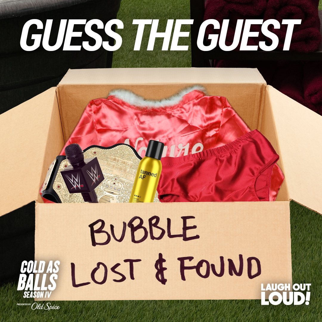 Last episode of #ColdasBallsS4 tomorrow. Guess the last guest! #guesswho #stopleavingstuffonset #wonderwho