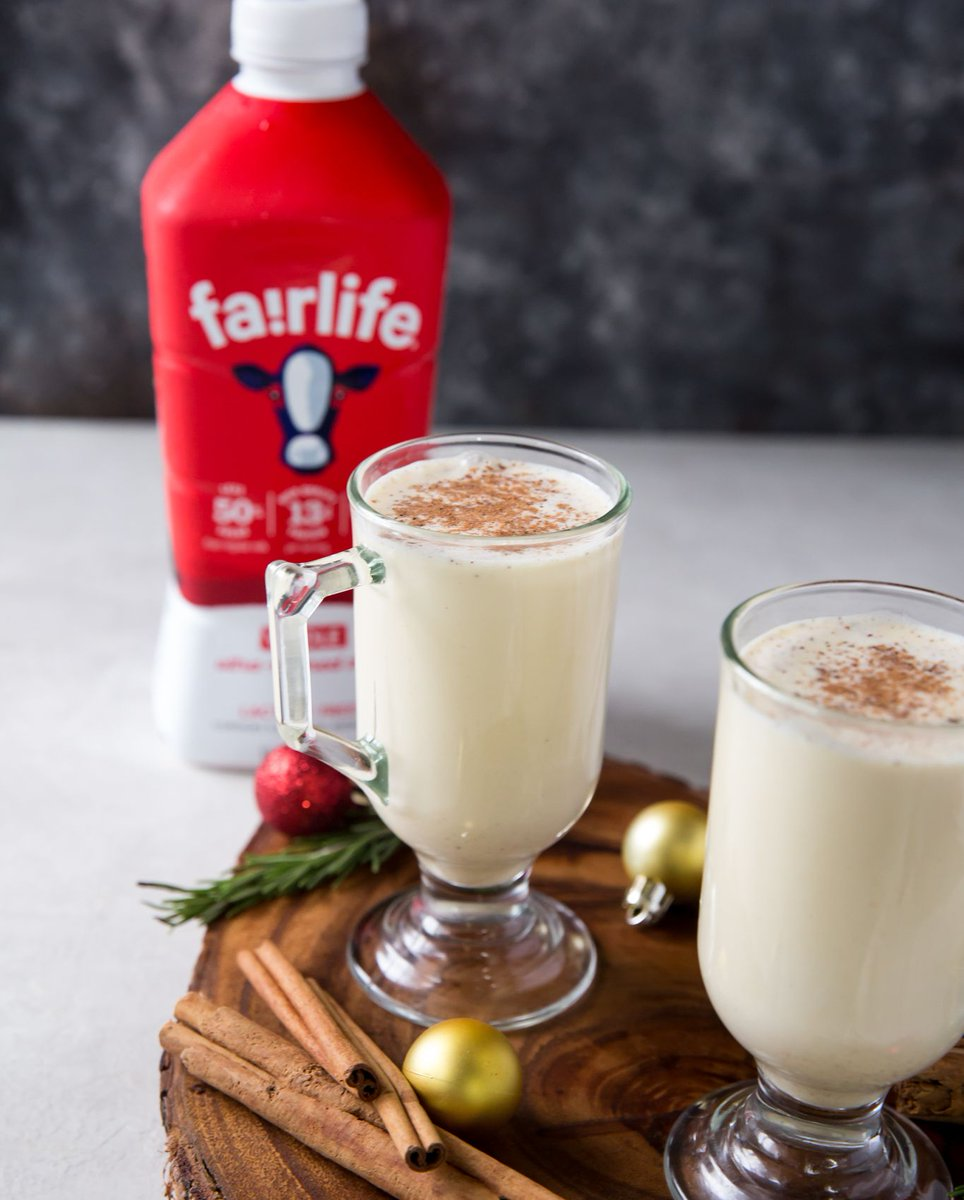 The holiday season isn't complete without indulging in some Eggnog! Visit the link below for this festive, easy-to-make recipe using fairlife ultra-filtered milk. Cheers!   https://t.co/P20bGYXqCK https://t.co/lqbLeh2n39