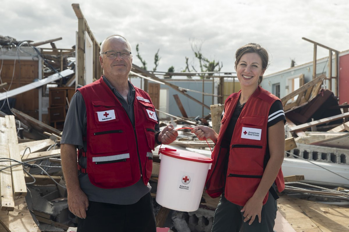 Emergency kits provide a family of five with hygiene supplies, blankets, tarps, water containers, kitchen set, crank-powered combination lamp, radio and cellphone charger in the aftermath of an international disaster.  #GiveWithMeaning