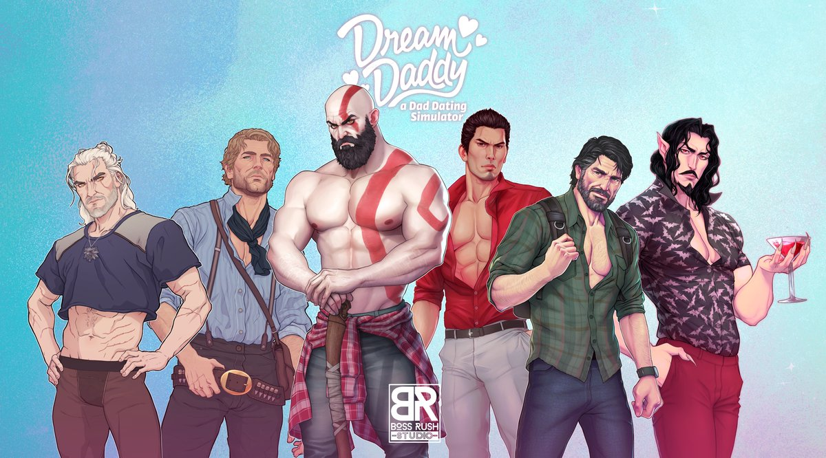 LIMITED EDITION Dream Daddy Joel Miller Metallic Sparkly Premium Art Print gaming poster