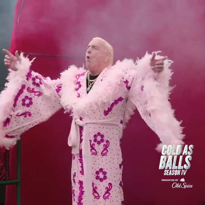 Season Finale of #ColdasBallsS4 and probably the best opening ever in any episode of anything! @RicFlairNatrBoy and @KevinHart4Real master the strut and may make feathers come back in 2021. #PoweredByOldSpice  Full Episode -