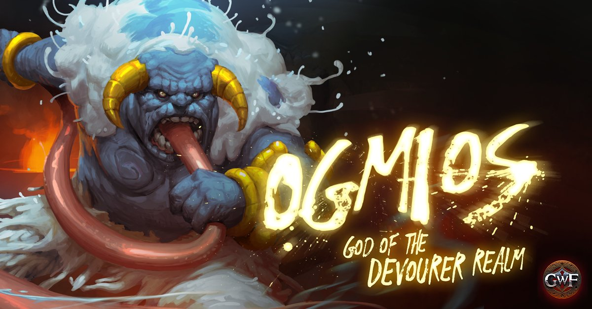 Consuming anything making its way into his soup, Ogmios has a mighty appetitive. Slay him to end his boundless feast or perish and suffer in agony to his everlasting hunger. #GWF #GodSlayers