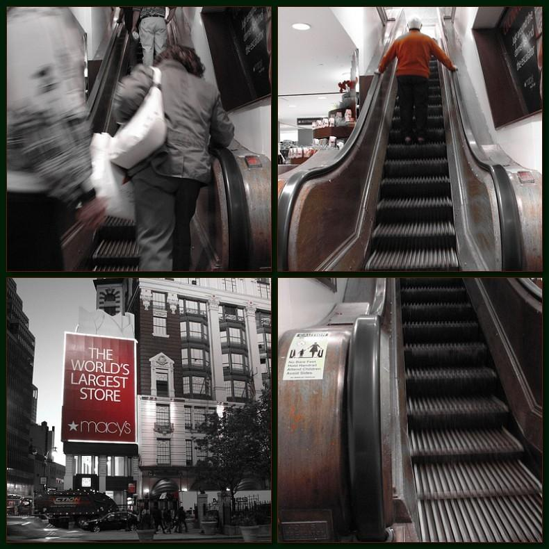 Quadtych #MacysParade #Escalator #Wooden #Macys