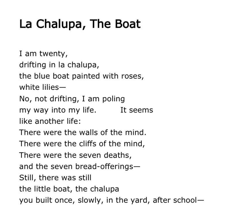 """test Twitter Media - RT @CPhillipsPoet: """"Still, there was still/the little boat..."""" Jean Valentine 1934-2020. https://t.co/9381Wu4Z0W"""