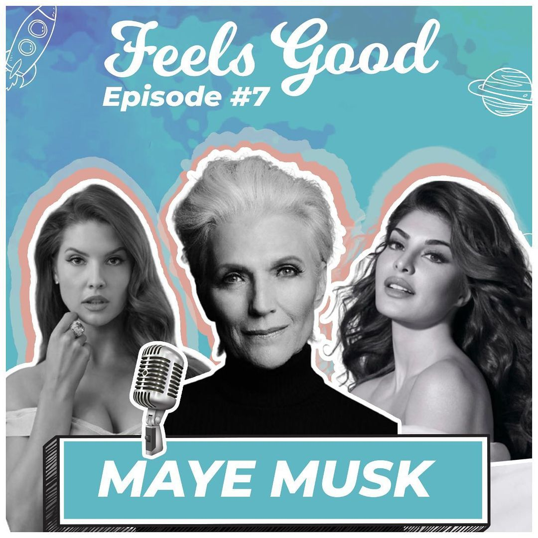 And our next guest is... I'm so so so excited about this one!! @mayemusk  you are such an inspiration to so many people and your story has left a mark on me!! Everyone catch our chat with Maye Musk on the #feelsgoodpod with @AmandaCerny and myself!! LINK IN BIO!!!
