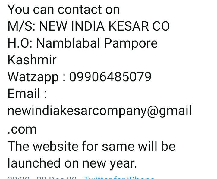 A great suggestion has come from PM @narendramodi Ji to promote #Kesar of #Kashmir. Here's one recommendation.