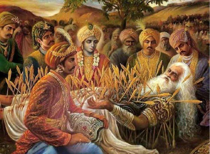 """Why a king and a conscious monarchy is required?  After the battle of Kurukshetra ended, Pandavas went to Bhishma seeking knowledge and blessings. Yuddhisthir asked him, """"O grandfather! Please tell me what will happen if there is no king,"""