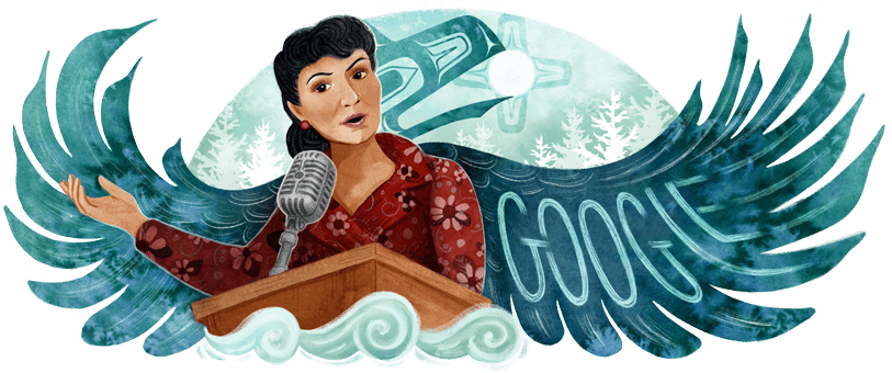 Her words inspired change. Her perseverance led to a more equitable future.   Today's #GoogleDoodle honors Alaska Native Elizabeth Peratrovich who helped establish the 1st anti-discrimination law in the U.S. ⚖️  🎨 by guest artist @MichaelaGoade →