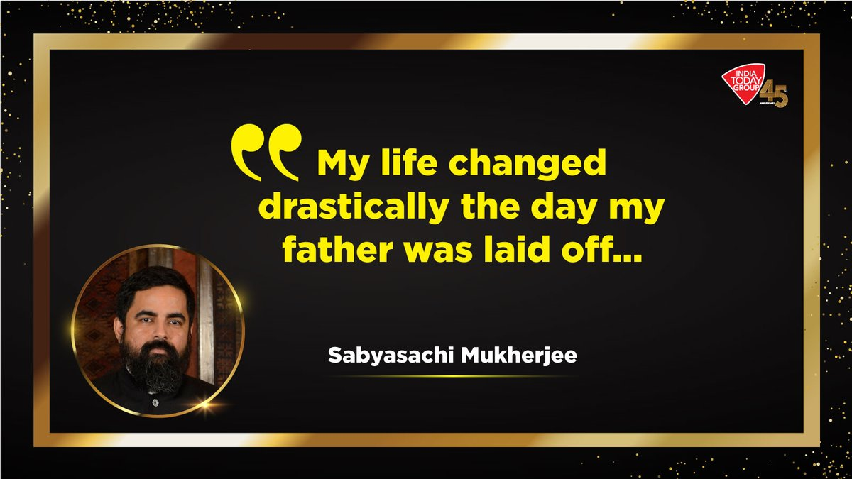 Click  to know what made @sabya_mukherjee vow, to build a career that would shield his family from financial struggles in future.   Latest India Today issue explores such achievers who will inspire you.  #IndiaTodayGroupAt45 #MagazinePromo