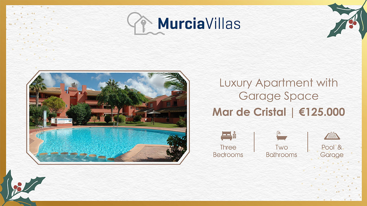 Murcia Villas Properties On Twitter This Spacious 3 Bedroom First Floor Apartment Located In The Albatros Ii Community In Mar De Cristal Only 400m Away From The Marmenor Sea There Is A Dedicated