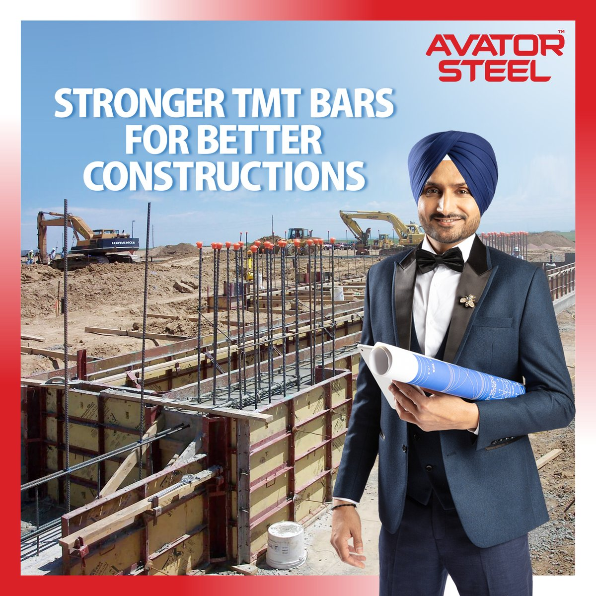 Make sure that your construction stands strong for many years. Place your trust in the leaders of TMT bars, #AvatorSteel.   #rustprooftmtbar #earthquakeproof #HarbhajanSingh  @harbhajan_singh