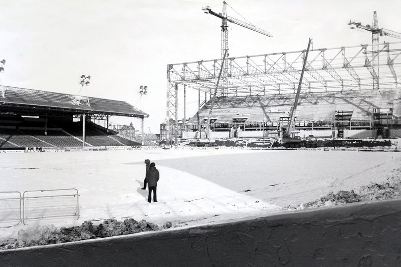 Football Grounds of Scotland: The new stand being built at Ibrox in 1979. Pic: Trinity Mirror.