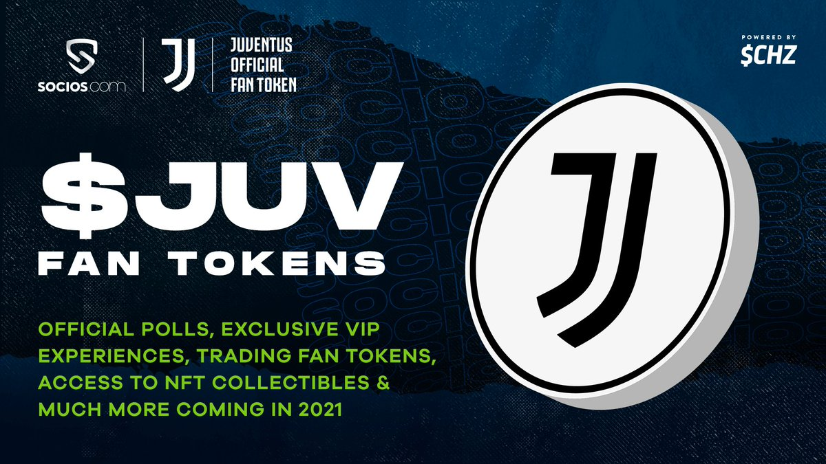 """JuventusFC در توییتر """"Are @juventusfcen Fan Token holders ready for 2021? Join thousands who own the official $JUV fan tokens! Get started: https://t.co/S3nc96o7PY Powered by @socios x @Chiliz #bemorethanafan $JUV ⚡️ $CHZ…"""