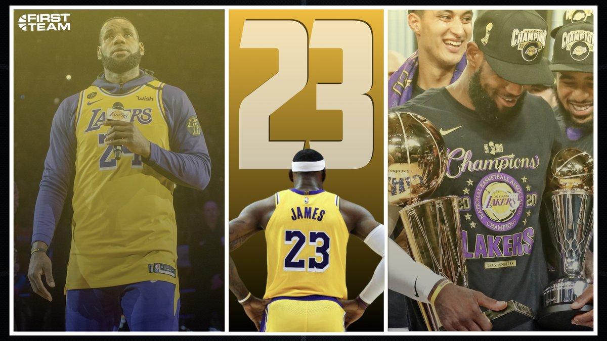 Bon anniversaire à King James ! 🎂🎁 36 ans ! 🎊  🏆 Palmarès :   2x Médaille d'Or aux J.O. 🏅 4x Champion NBA 🏆  4x MVP 4x MVP des Finals 16x All-Star 13x All-NBA 1st Team 5x All-NBA 1st Def. Team 1x NBA Assists Leader (2020) 1x TIME Athlete of the Year (2020) ROY 2004 https://t.co/O8ET8HuXqG