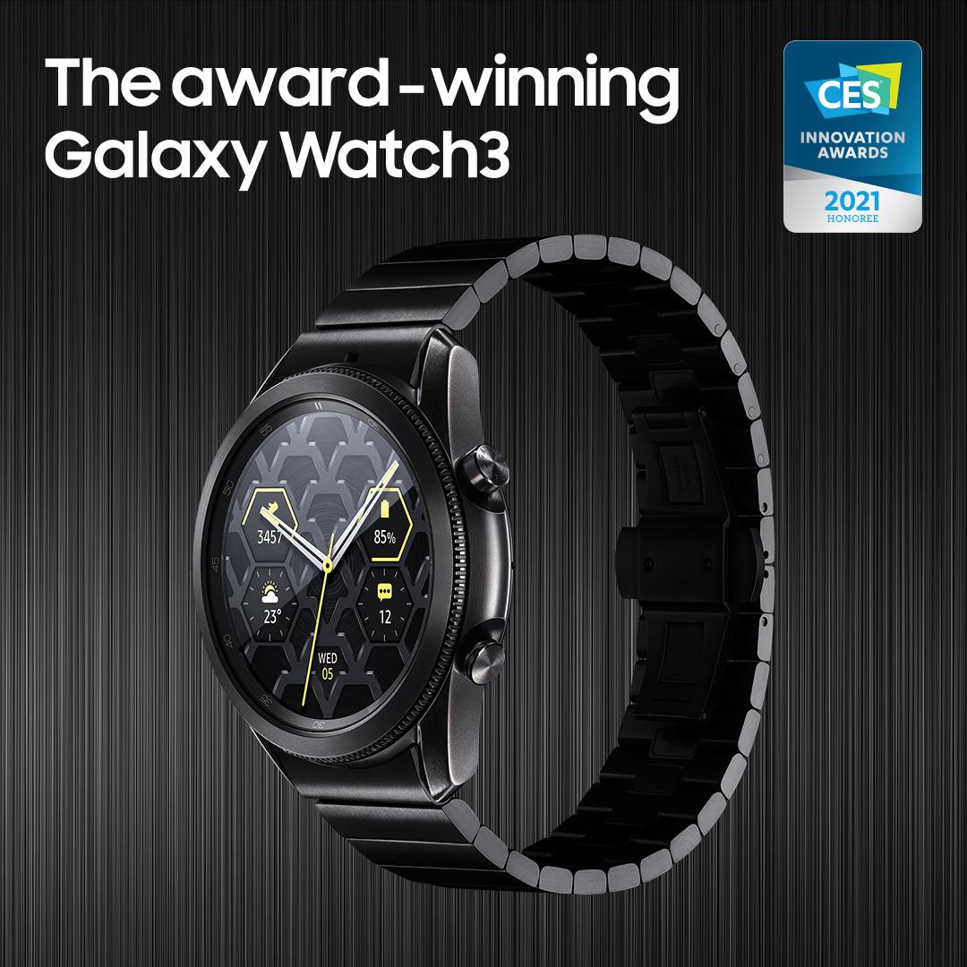 The next-generation fitness tracker, #GalaxyWatch3, was named as a CES 2021 Innovation Awards Honoree! Learn more: